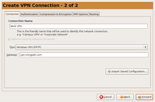 Getting Ubuntu Linux to connect to a PPTP Cisco VPN 3000
