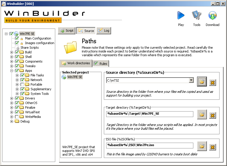 Building a boot USB, DVD or CD based on Windows 7 with