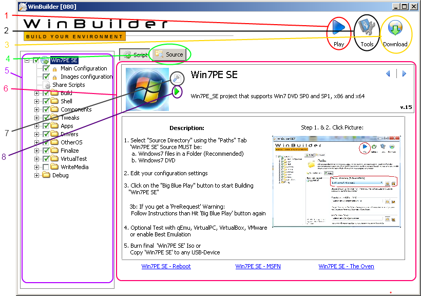 Building a boot USB, DVD or CD based on Windows 7 with Winbuilder